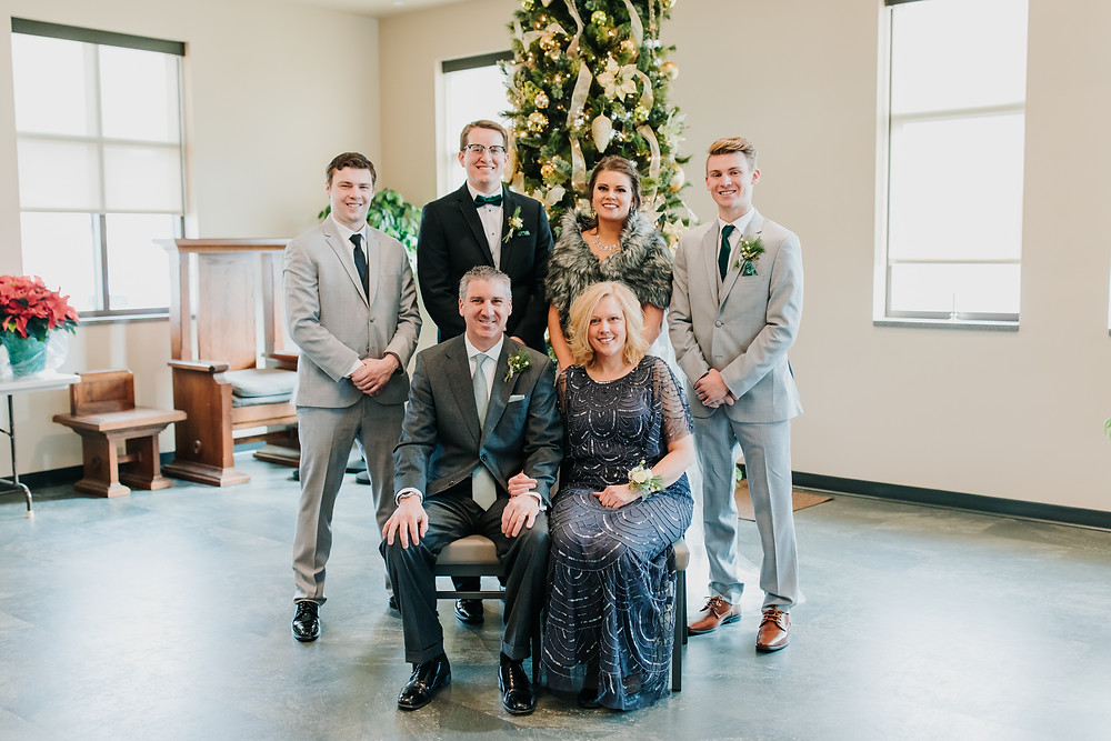 The Rew Family On Wedding Day
