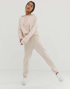 Beige Sweatshirt/Sweatpants Set From ASOS