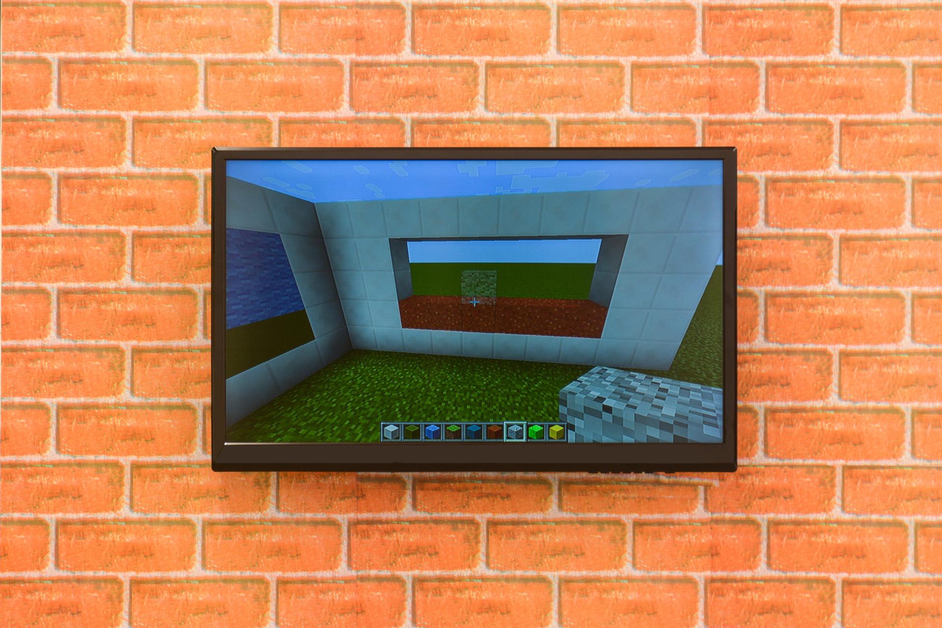 """Minecraft"", 2015 video installation, 9:00 min"