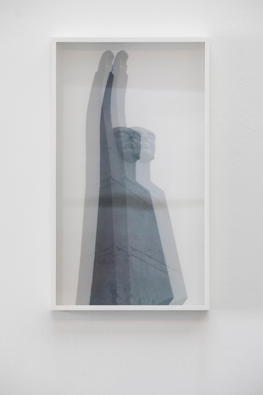 """""""Lord Melchett Monument"""", 2020 mixed media 70 x 40"""