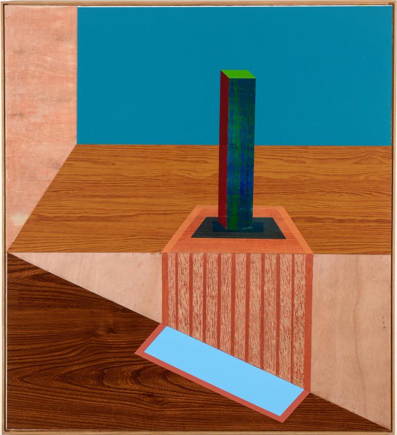 """""""Obelisk"""", 2015 Wallpaper on formica 100 x 91 cm"""
