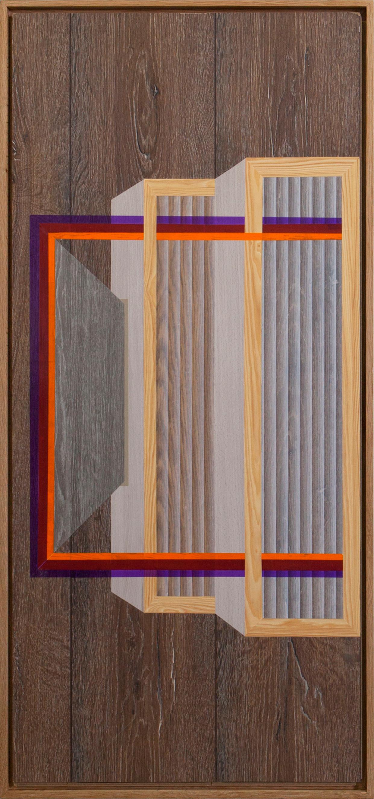 """Level #1"" 40/120 cm wallpaper and tape on floor panels"