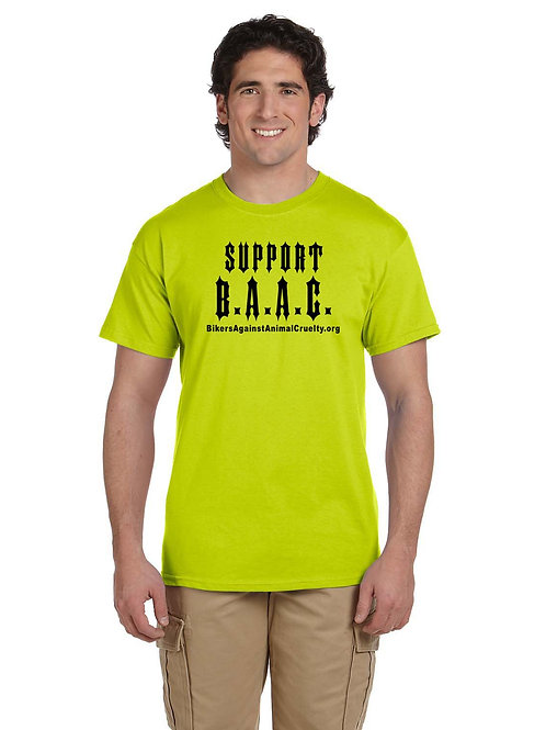 SAFETY YELLOW Support B.A.A.C. T-Shirt (Unisex)