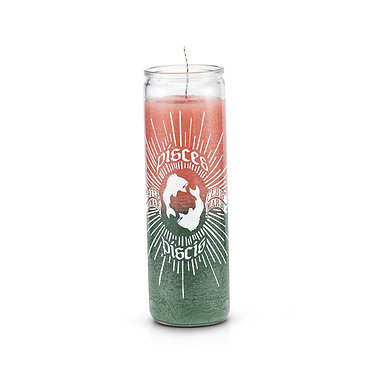 Pisces Multicolor 7 Day Horoscope Candle