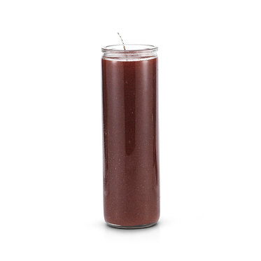 7 Day Plain Candle Brown