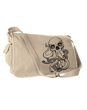 OCTO-SKULL MESSENGER BAG