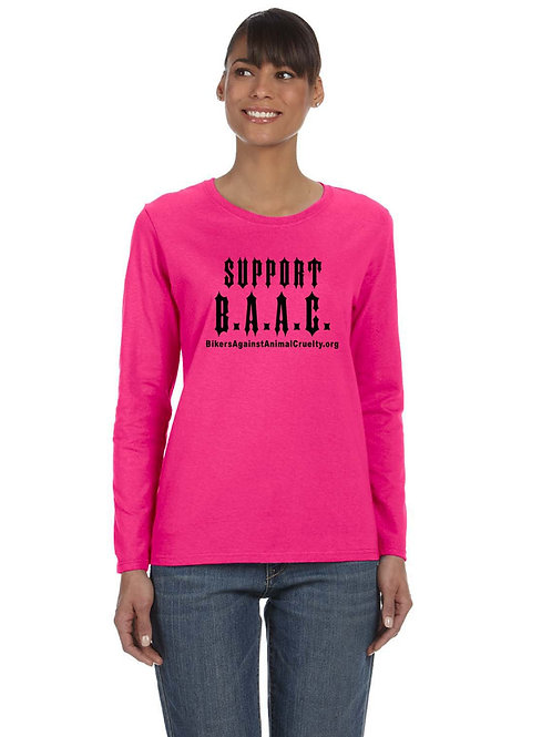 PINK Support B.A.A.C. Long Sleeve Shirt (Fitted)