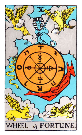 Destiny. Fortune. Fate. Outcome. Advancement for better or worse. Culmination. Conclusion. Approaching the end of a problem. Unexpected events may occur.