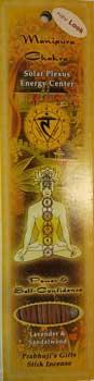 Solar Plexus Chakra Incense Stick (10 pack)