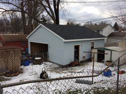 new siding, new garage