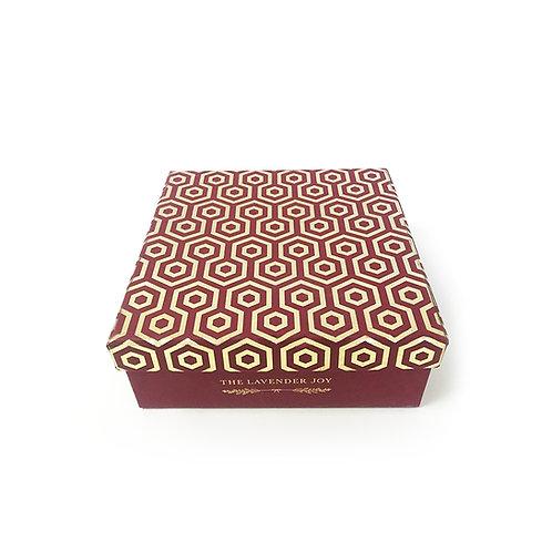 Maroon Colour Cardboard Box