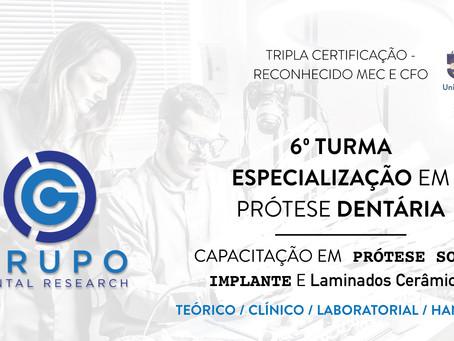 6º Turma de Especialização em Prótese Dentária - Turma 2020