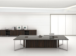 Yes Meeting Table with Glass Top