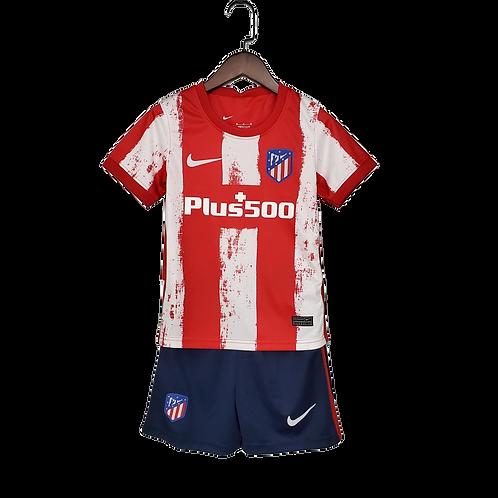 Детский комплект Nike  Atletico Madrid  сезон 21/22 форма домашняя