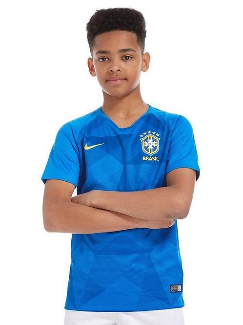 Детский комплект сборной Бразилии ЧМ 2018 форма гостевая