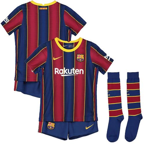 Детский комплект Барселона сезон 20/21 форма домашняя Месси