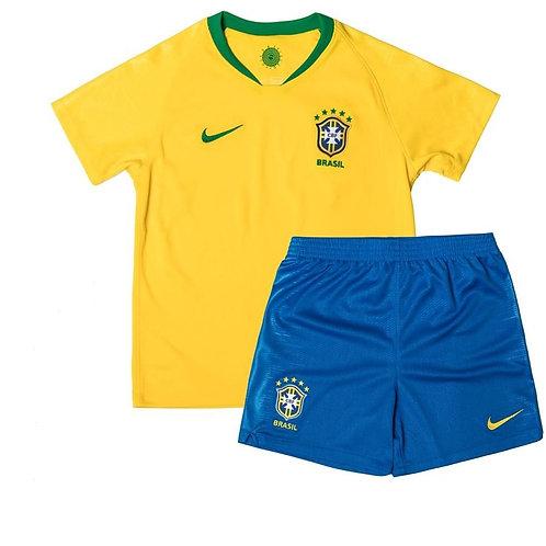 Детский комплект сборной Бразилии ЧМ 2018 форма домашняя