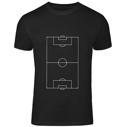 Футболка детская черная футбольное поле хб
