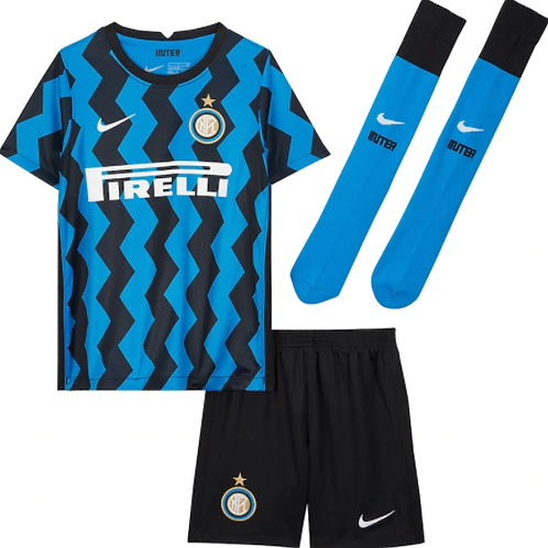 Детский комплект Интер Милан сезон 20/21 форма домашняя лукаку
