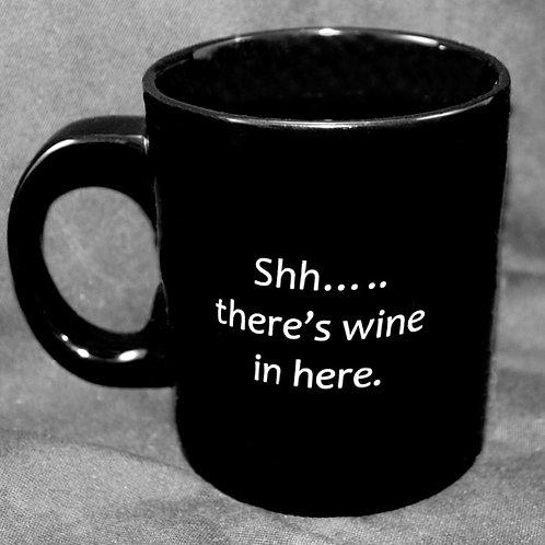 Black Mug Hiding Wine