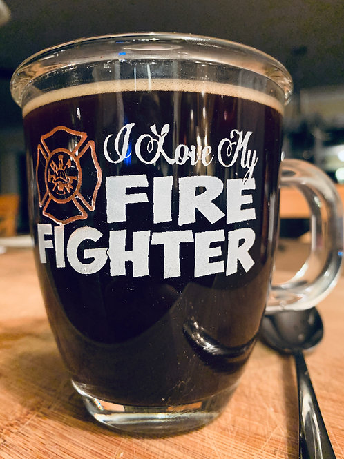 Teacup With Fire Fighter Message