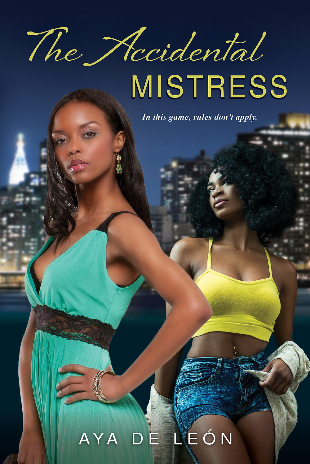 Two African American women against city skyline on book cover