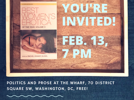 Join us in Washington, DC February 13 for a HOT Best Women's Erotica reading!