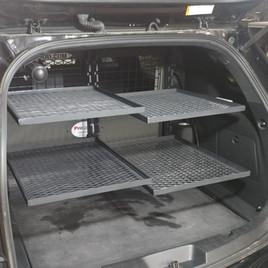 Squad Car Rear Storage Solution