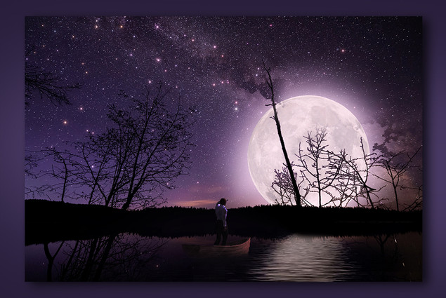 Moon Lit Night Image Manipulation