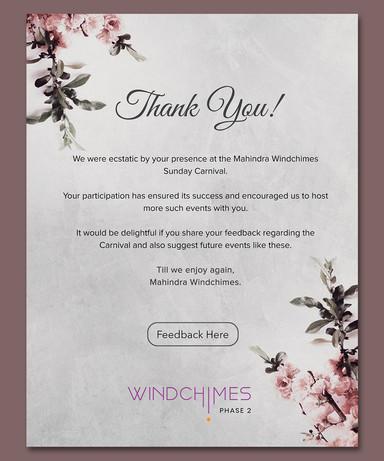 Mahindra Windchime Thankyou emailer