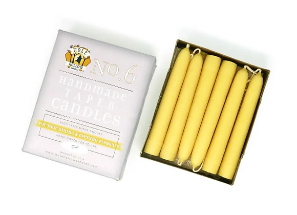 Dipped Taper Candles, Beeswax