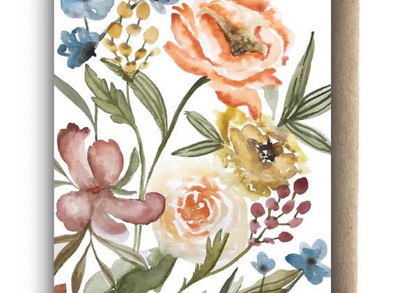 Card | Blank Floral Light