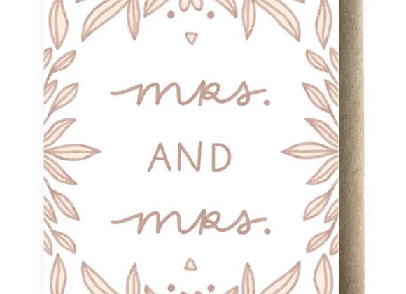 Card | Mrs & Mrs