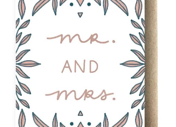 Card   Mr. & Mrs.