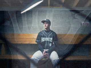 In the dugout with Andrew