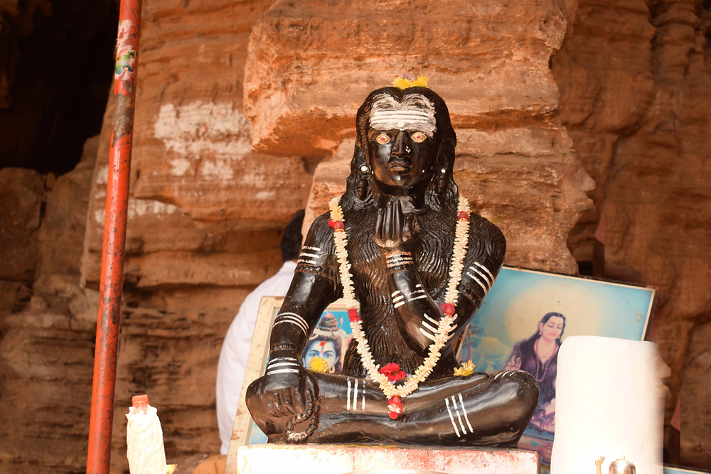 Idol of Akka Mahadevi at Akka Mahadevi Caves