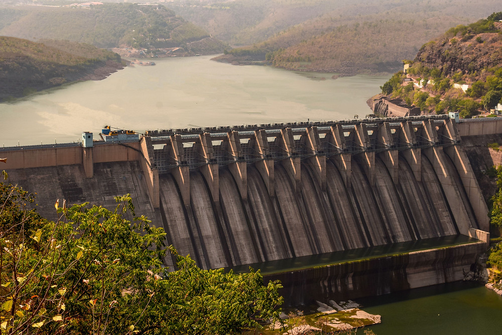 NSR Srisailam Project View. Popular as Srisailam Dam