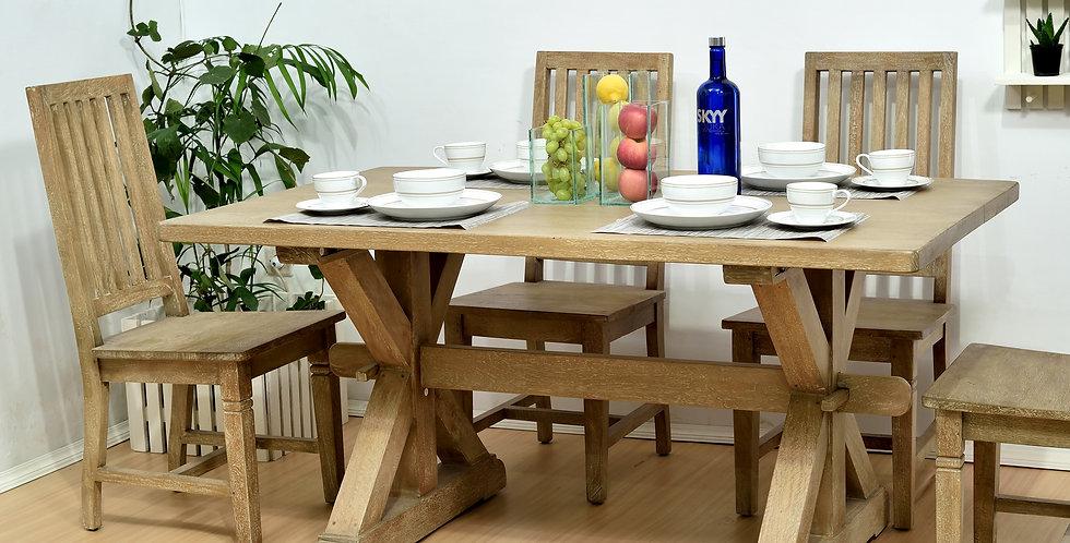 MAH703 - Small Chamonix Dining Table 5ft x 3ft