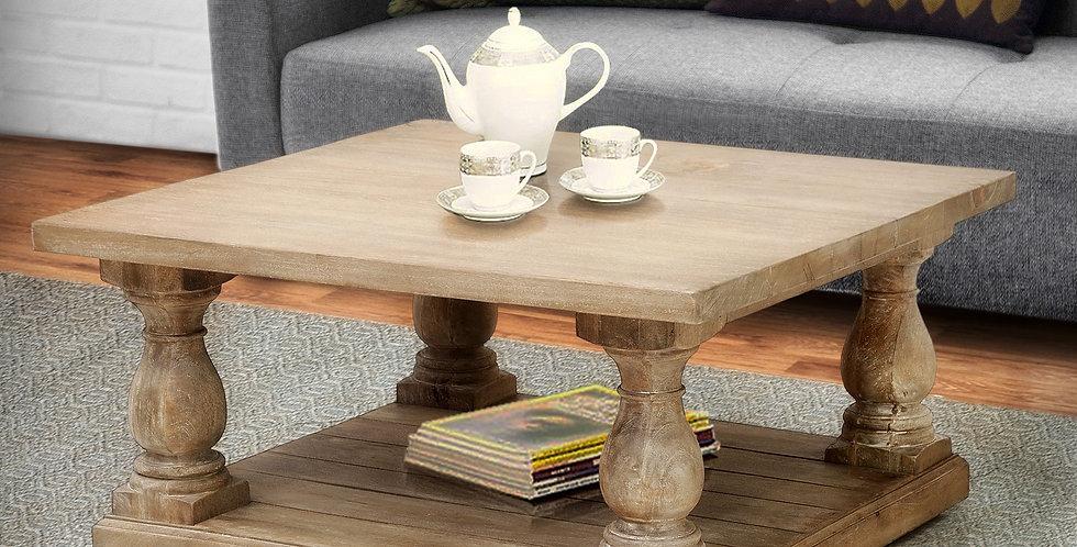 "MAH552 - Pedestal Coffee Table 36"" x 36"""