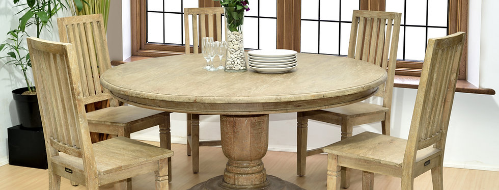 MAH439 - Jackie Round Pedestal Dining Table 5 ft