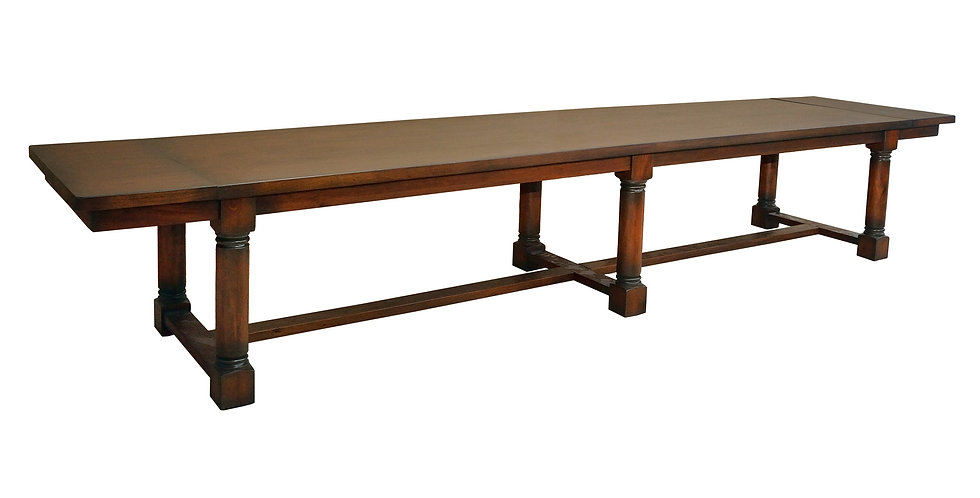 "MAH601 - Gun Barrel Dining Table 12ft x 38"""
