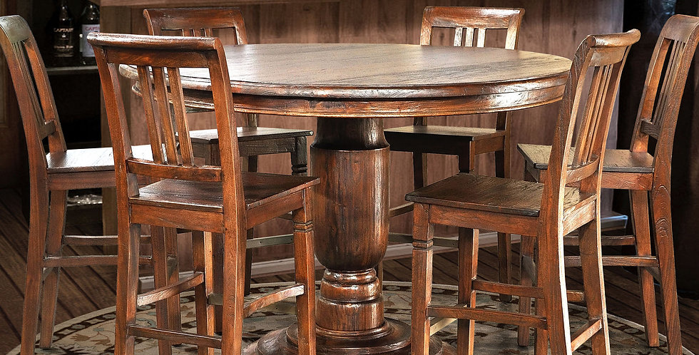 MAH786 - Jackie Round Pedestal Bar Table 5 ft