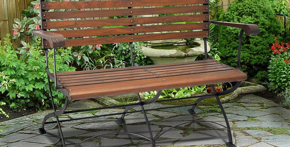 IRT005 - Toscana Iron & Teak Folding Bench