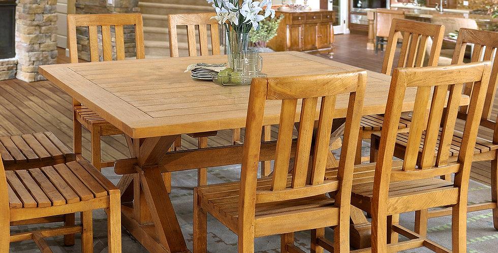 MAH730 - Chamonix 5ft Square table - Slatted Top