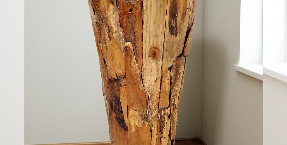 "SEN045 - Large Teak Driftwood Pot 39"""