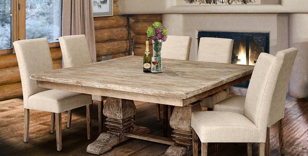 MAH505 - Santa Fe Square Balustrade Dining Table 5ft