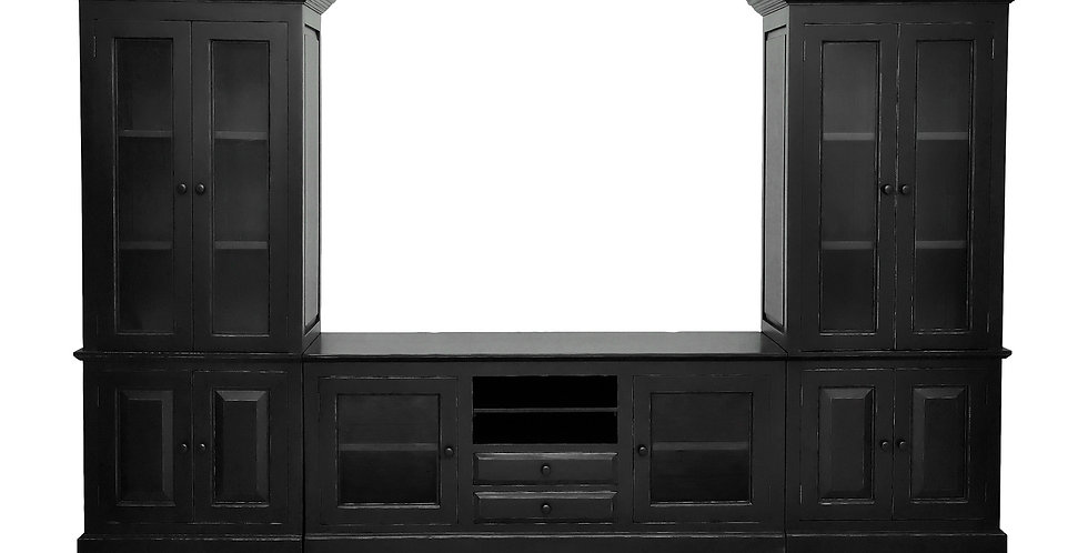 MAH402 - Lindsey Entertainment Center - 2 wall units and center unit