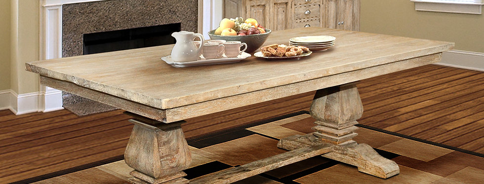 MAH447 - Santa Fe Balustrade Dining Table with solid Top 7ft