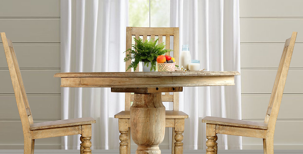 MAH440 - Jackie Round Pedestal Dining Table 4 ft