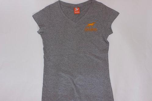 Ladies V Neck T Shirt
